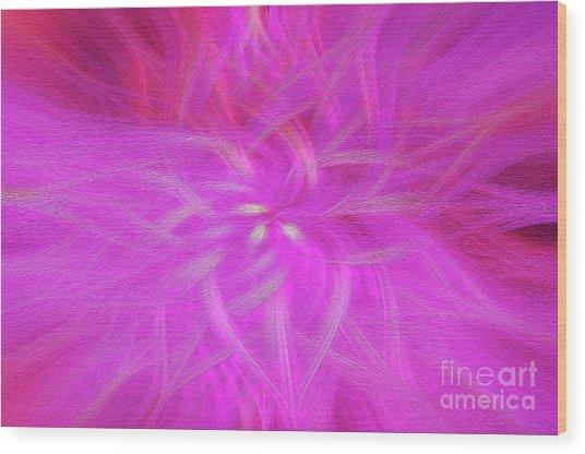 Floral Imprint Wood Print