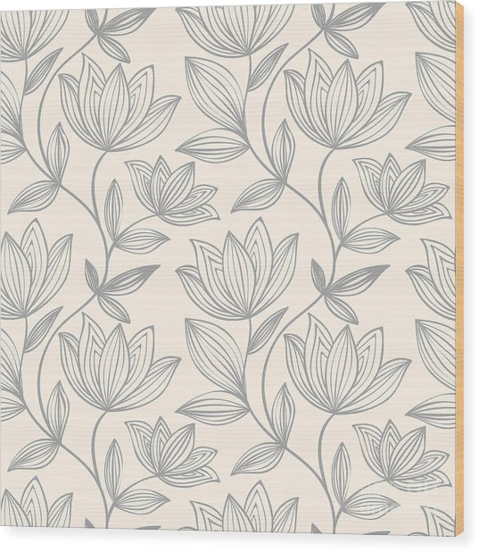 Floral Seamless Pattern Can Be Used For Wood Print