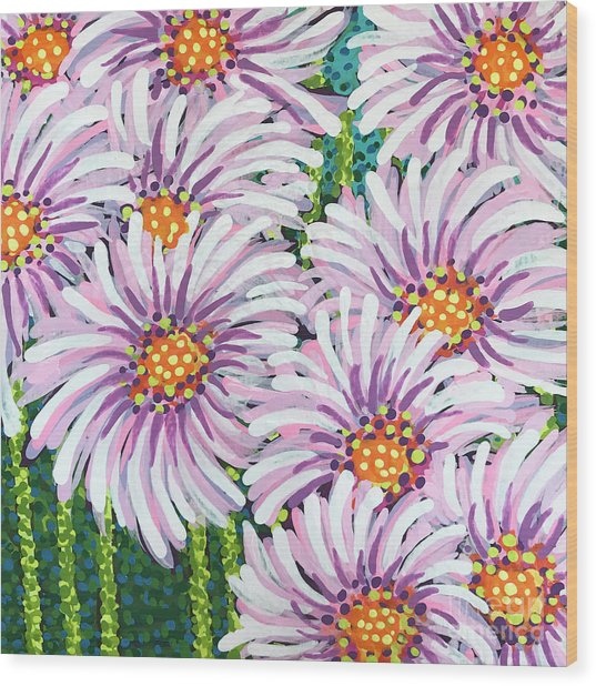 Floral Whimsy 1 Wood Print