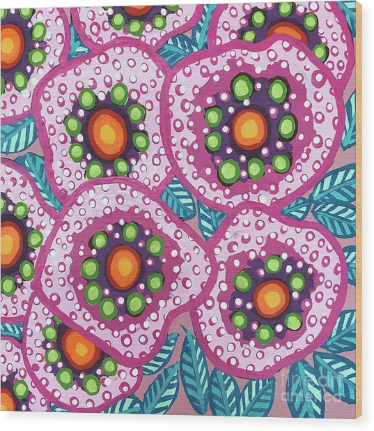 Floral Whimsy 10 Wood Print