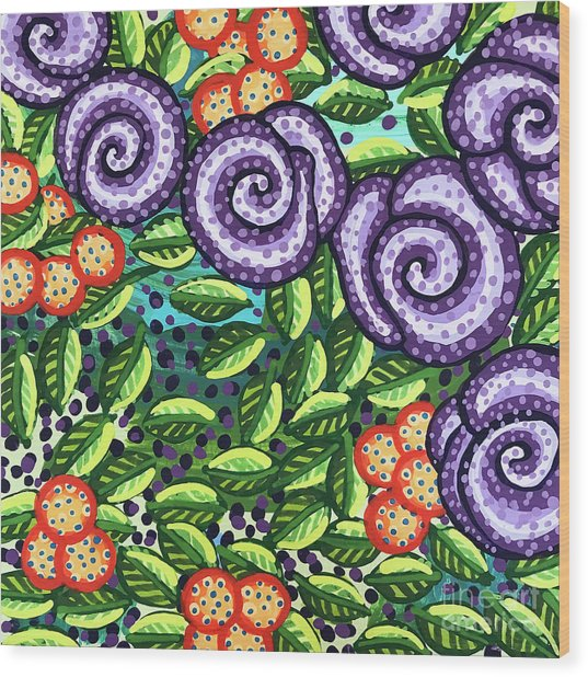 Floral Whimsy 11 Wood Print
