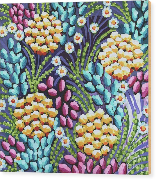 Floral Whimsy 2 Wood Print