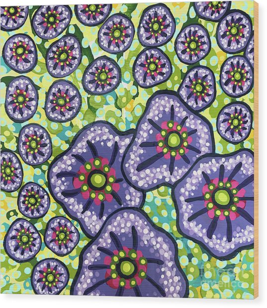 Floral Whimsy 4 Wood Print