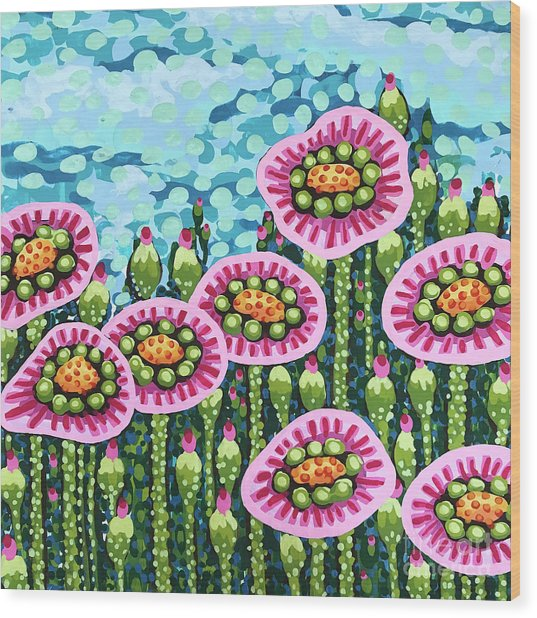 Floral Whimsy 8 Wood Print