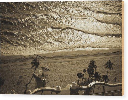 Florida Beach Aerial View Wood Print