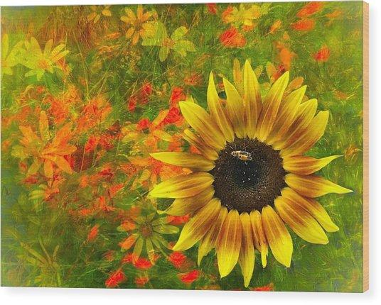 Flower Explosion Wood Print