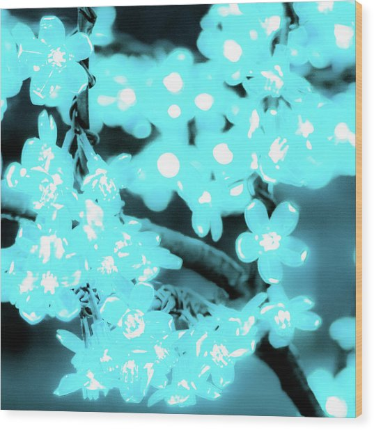 Flower Lights 3 Wood Print