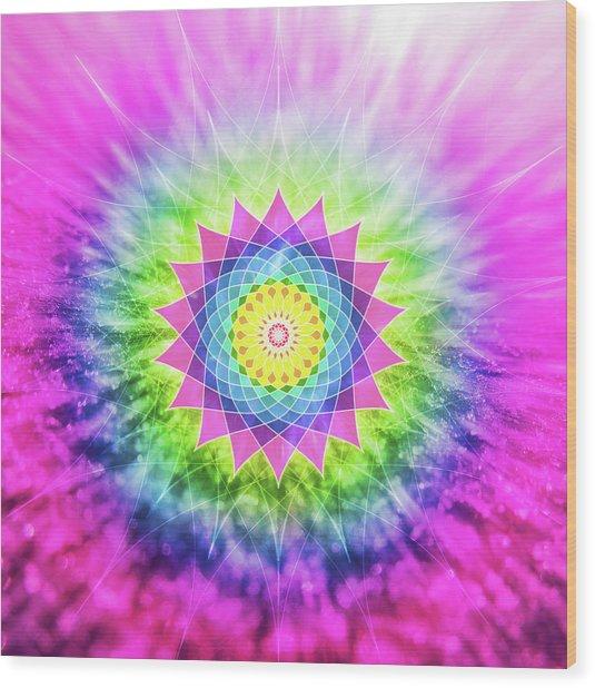 Flowering Mandala Wood Print