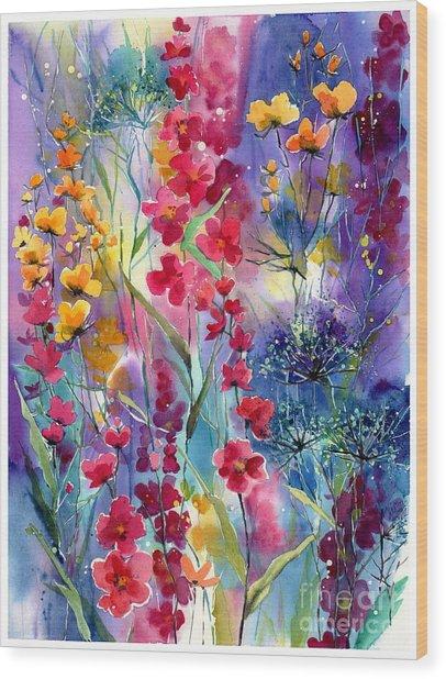 Flowers Fairy Tale Wood Print
