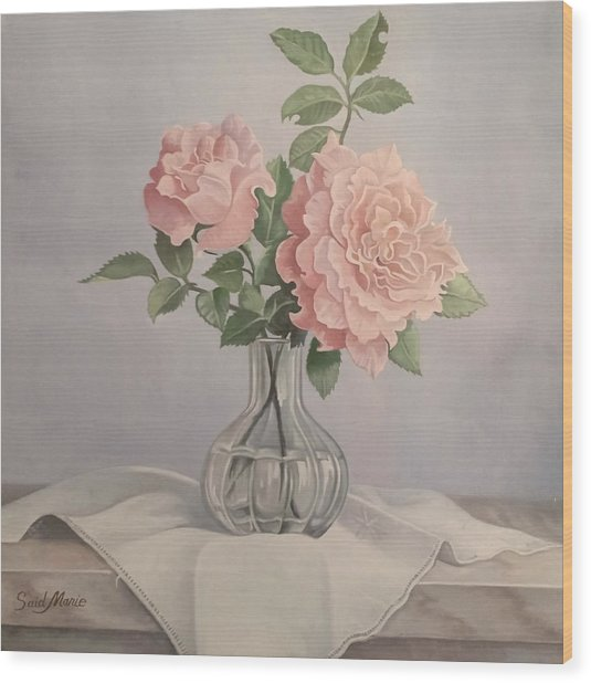Flowers Vase Wood Print