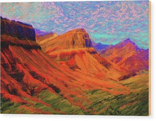 Flowing Rock Wood Print