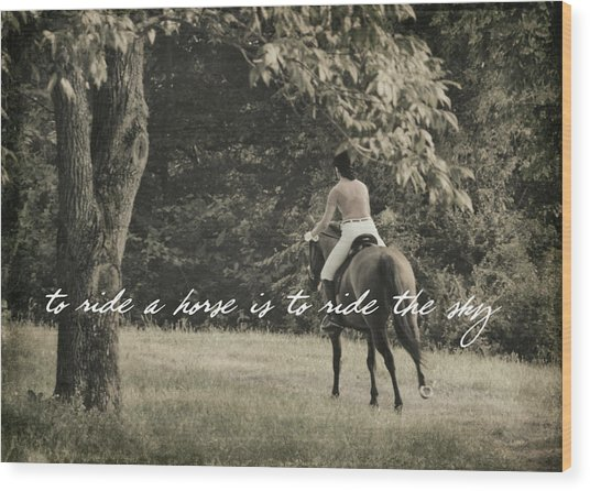 Fly Like Pegasus Quote Wood Print by JAMART Photography
