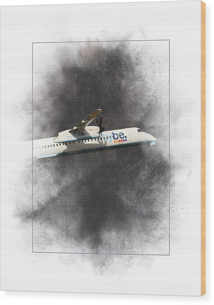 Flybe Bombardier Dash 8 Q400 Painting Wood Print