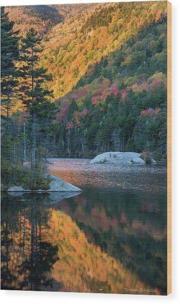 Foliage Burst At Kinsman Notch Wood Print