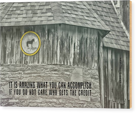 Folk Art Quote Wood Print by JAMART Photography