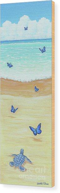 Follow The Butterflies Wood Print
