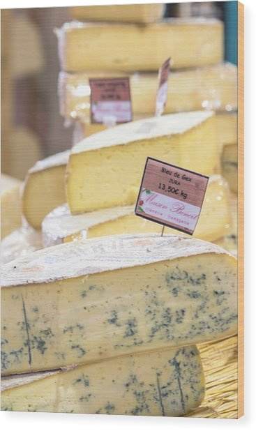 Food Cheese, Food Market, Dijon Wood Print by Jim Engelbrecht