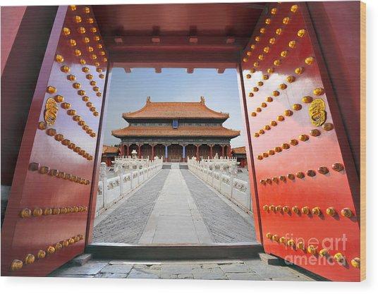 Forbidden City In Beijing , China Wood Print