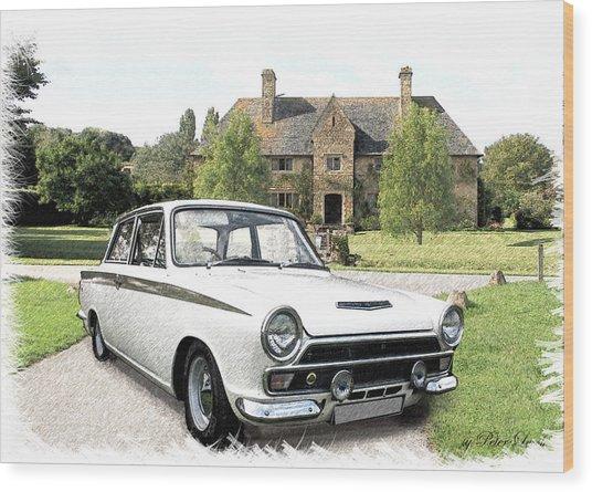 Ford 'lotus' Cortina Wood Print