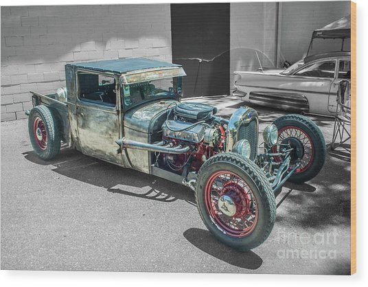 Ford Rat Rod Wood Print