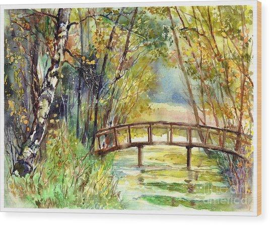 Forgotten Bridge Wood Print