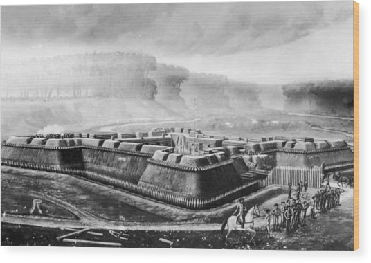 Fort Stanwix Wood Print by Fotosearch