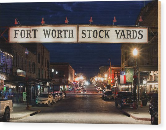 Fort Worth Stock Yards 112318 Wood Print