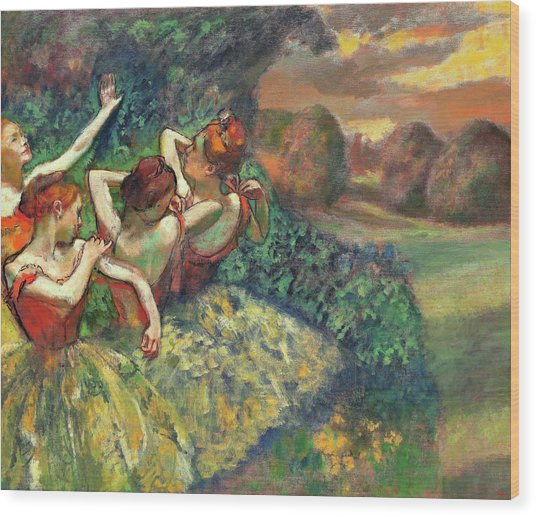 Four Dancers - Digital Remastered Edition Wood Print