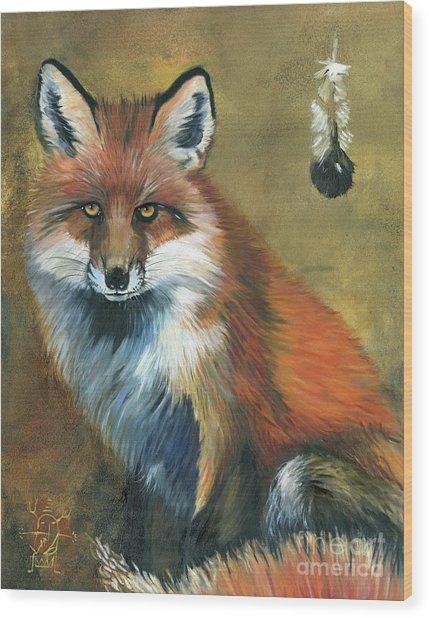 Fox Shows The Way Wood Print