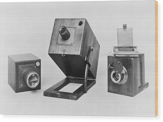 Fox Talbots Camera Wood Print by Spencer Arnold Collection