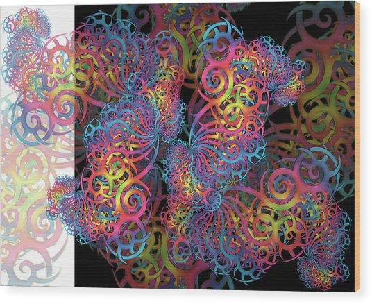 Fractal Illusion Wood Print