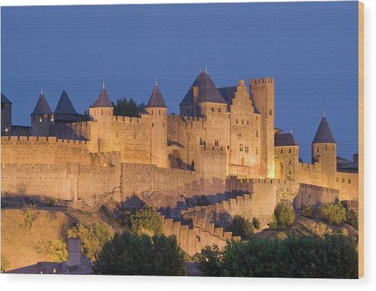 France, Languedoc, Carcassonne, Castle Wood Print