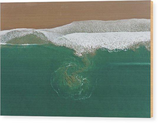 France, Manche, Baubigny, Beach, Tidal Wood Print by Cormon Francis / Hemis.fr