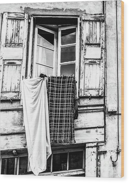 Franch Laundry Wood Print