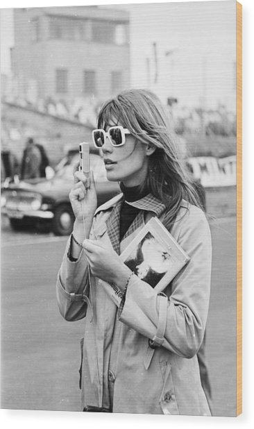 Francoise Hardy Wood Print by Victor Blackman