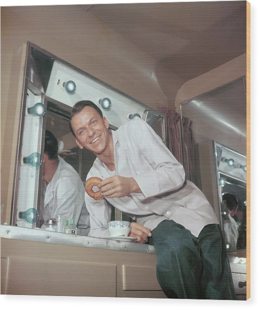 Frank Sinatra Wood Print by Archive Photos