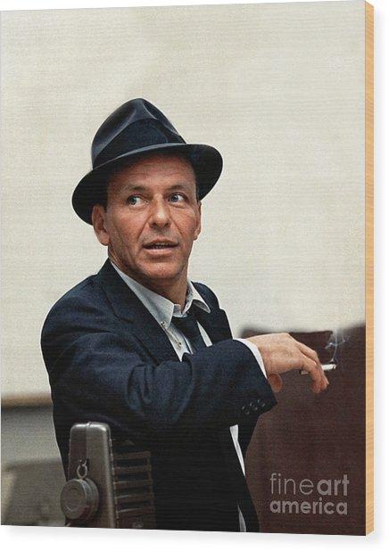 Frank Sinatra At Capitol Records, 1953 Wood Print