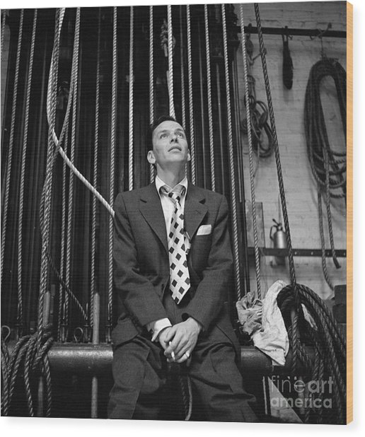 Frank Sinatra Show Wood Print by Cbs Photo Archive