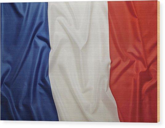 French Flag Wood Print by Joseph Clark