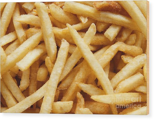 French Fries Wood Print