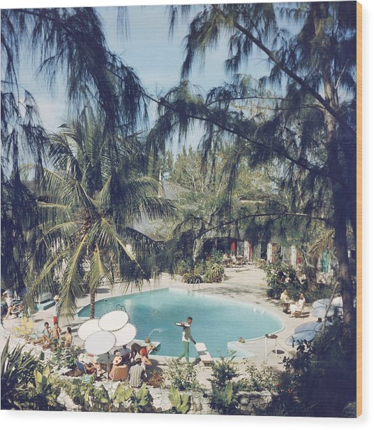French Leave Hotel Wood Print by Slim Aarons