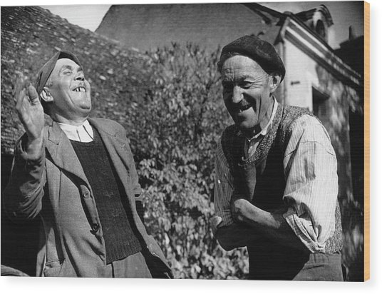 French Villagers Wood Print by Bert Hardy