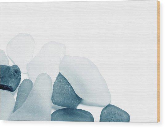 Fresh Glass Stones Wood Print