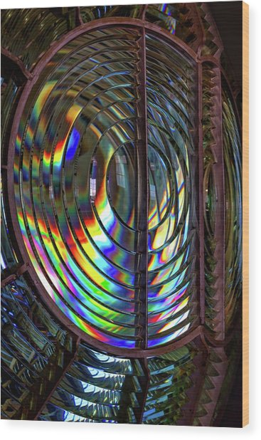 Fresnel Lens Point Arena Lighthouse Wood Print