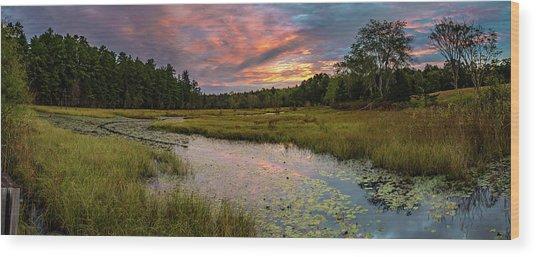 Friendship Panorama  Sunrise Landscape Wood Print