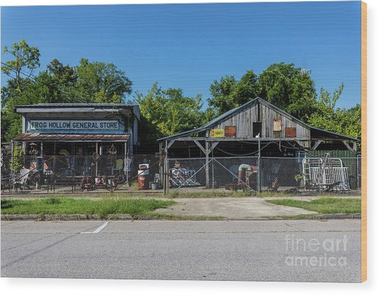 Frog Hollow General Store - Augusta Ga Wood Print