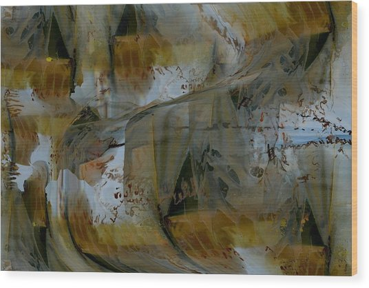 Wood Print featuring the digital art From Fall To Winter by Roy Erickson