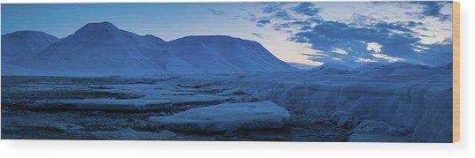 frozen coastline near Longyearbyen Wood Print