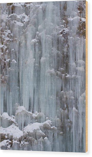Frozen Waterfall Wood Print by Nag#12@nagano japan