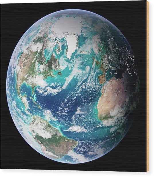 Full Earth, Close-up Wood Print by Science Photo Library - Nasa Earth Observatory
